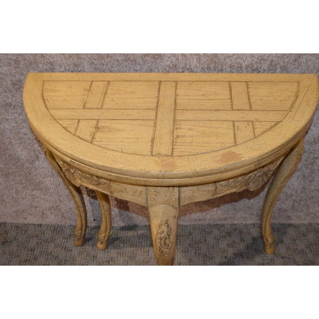 Baker Country French Style Flip Top Card Table For Sale - Image 9 of 13