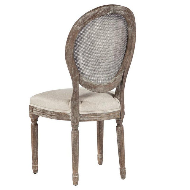 2020s French Louis XVI Style Oak Balloon Back Dining Chair For Sale - Image 5 of 7
