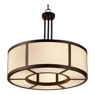 Art Deco Ailsa Bronze Pendant Light - 23.6""