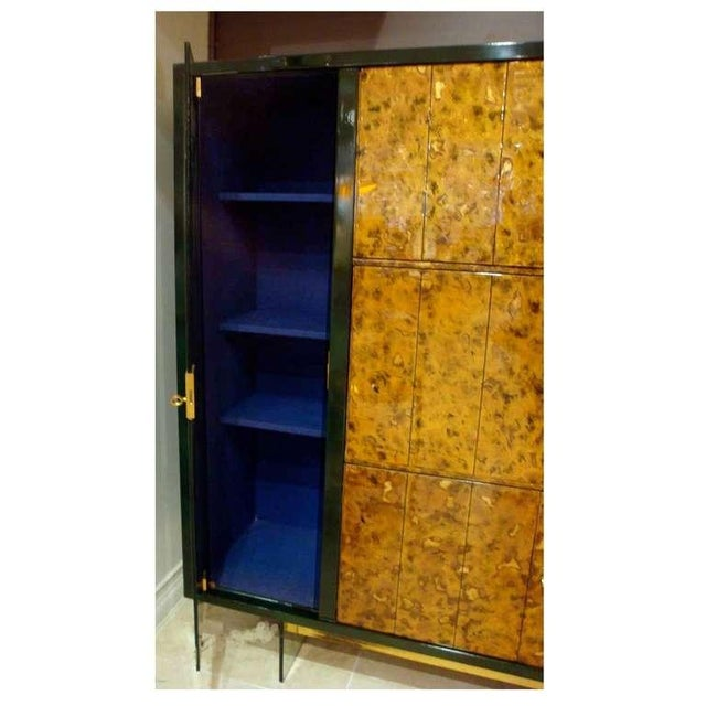 Mid-Century Modern Raphael Rare Drop Front Libraire Cabinet in Original Lacquer France circa 1962 For Sale - Image 3 of 10