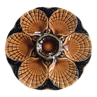 Midcentury French Oyster Plate For Sale
