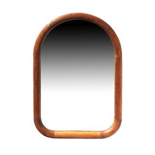 1960s Mid-Century Modern Oak Wall Mirror For Sale