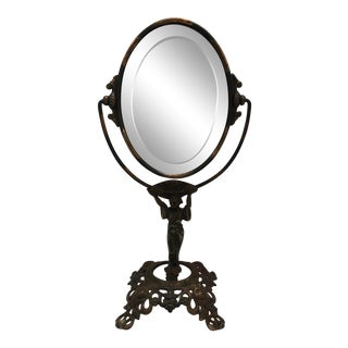 Vintage Figural Dressing Mirror For Sale