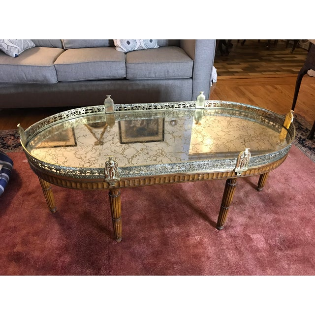 Just removed from New York City estate, we have a pleasure to offer you this beautiful French Louis VX mirrored top with a...