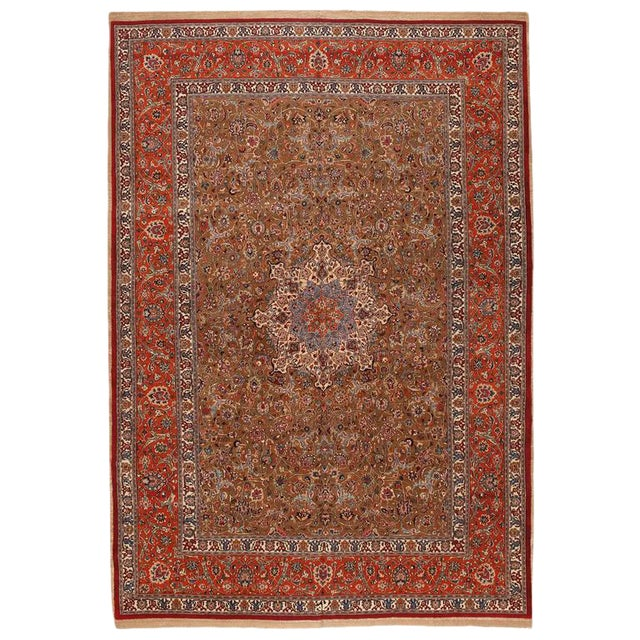 Extremely Fine Persian Saber Meshed Carpet For Sale