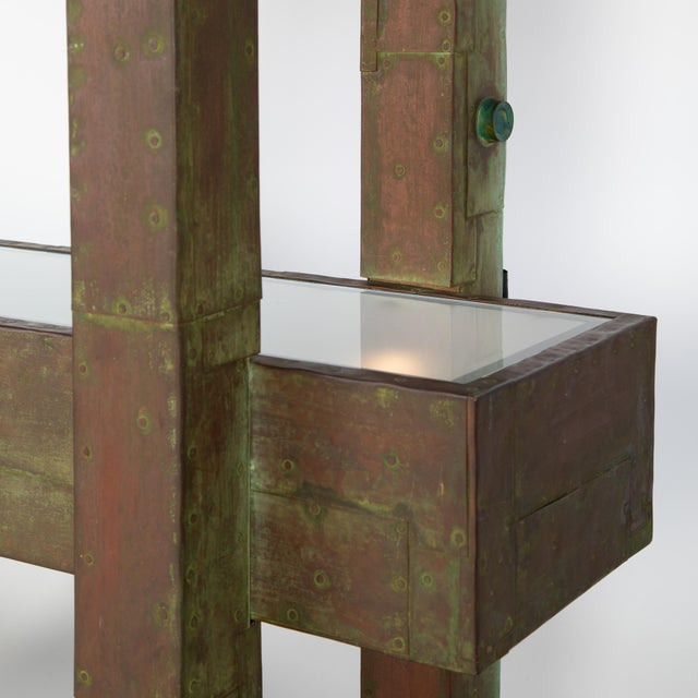 Unique Paul Evans Copper Patchwork Shelving Unit, Circa 1968 For Sale In New York - Image 6 of 13