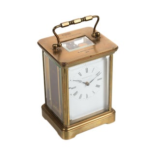 Tiffany & Co. Vintage Brass Carriage Clock For Sale