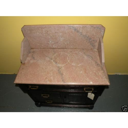 Antique Eastlake Style Marble Top Dry Sink Table - Image 5 of 9