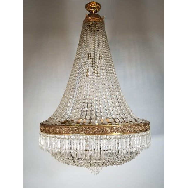 Circa 1920 French Empire Style Chandelier For Sale In Chicago - Image 6 of 6