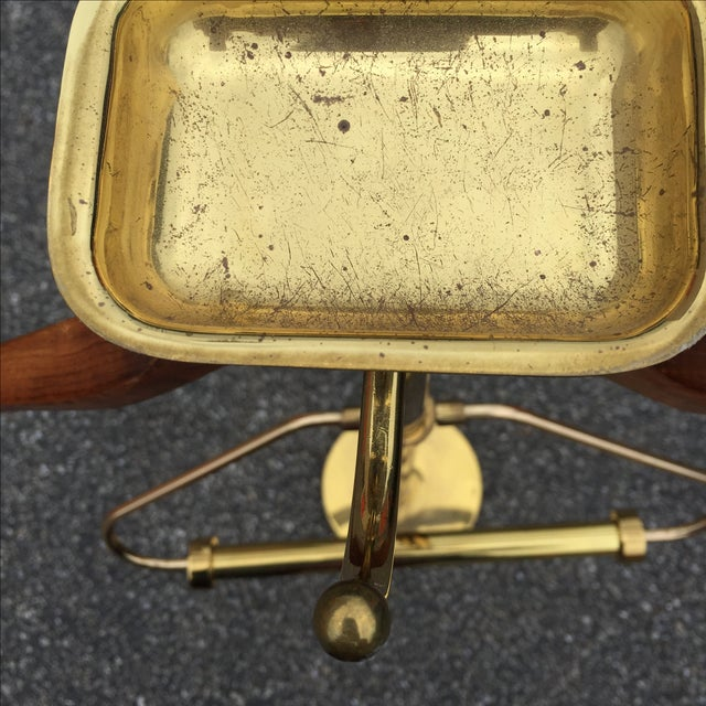 Vintage Brass & Lacquer Valet - Image 7 of 9