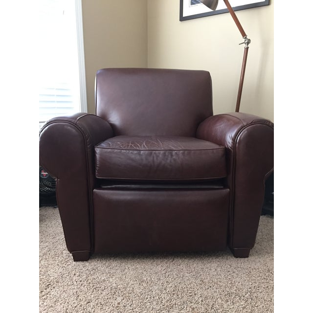 Pottery Barn Manhattan Leather Recliner - Image 4 of 8