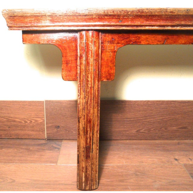 Antique Chinese Ming Long Bench - Image 4 of 10
