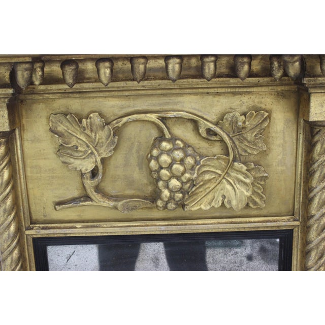Mid 19th Century Giltwood 1860s Carved Neoclassical Mirror For Sale - Image 5 of 13