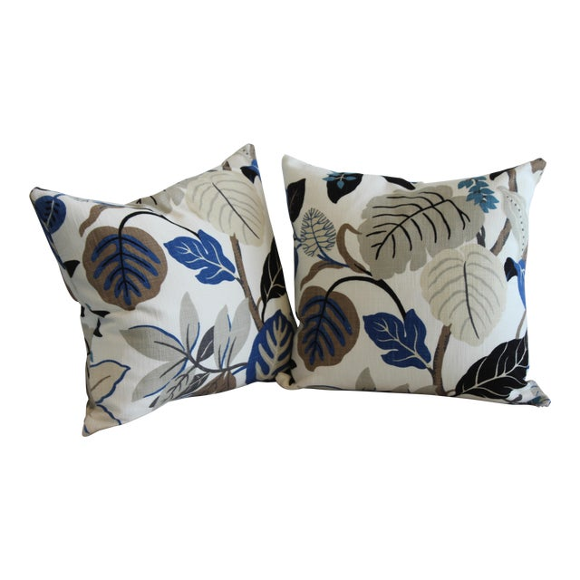 Bespoke Floral Pillows - a Pair For Sale