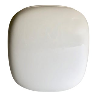 Wolf Bauer for Rostenthal Studio Glossy White Porcelain Squared Vase For Sale