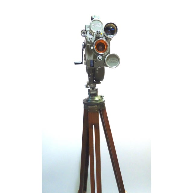 1956 Austrian Motion Picture Camera on Wood Tripod Vintage Perfect Display For Sale In Dallas - Image 6 of 12