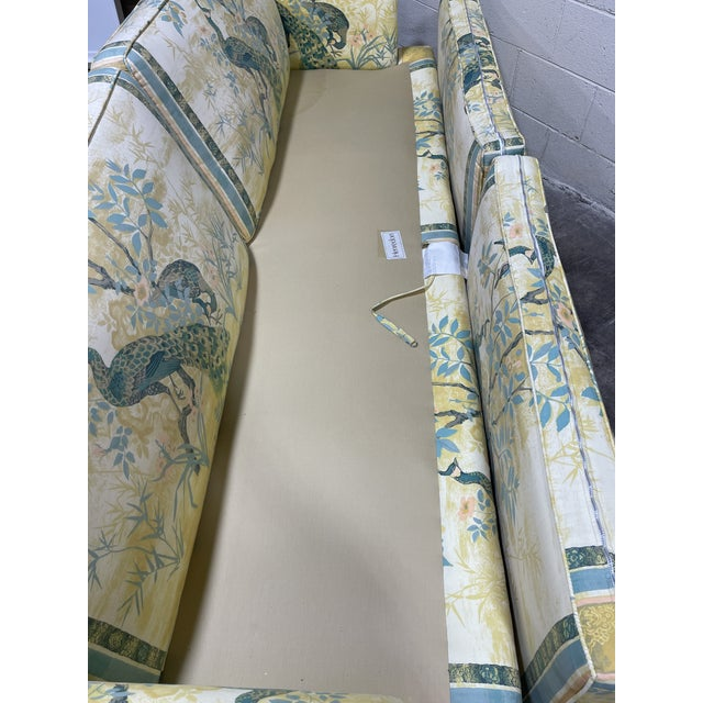 Vintage Henredon Schoonbeck Peacock Chinoiserie Sofa For Sale In Richmond - Image 6 of 13