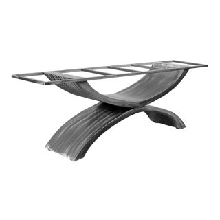 Sculptural Dining Table Base Handmade by Invictus Steelworks For Sale