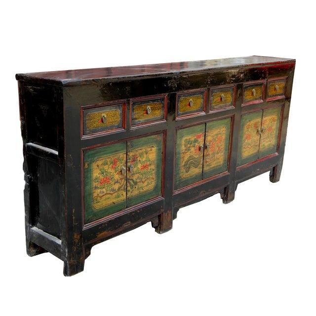 Asian 1930s Asian Antique Qinghai Buffet Sideboard For Sale - Image 3 of 11 - 1930s Asian Antique Qinghai Buffet Sideboard Chairish