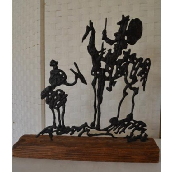 Pablo Picaso's Don Quixote Metal Sculpture
