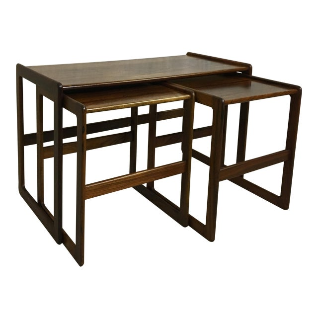 Hovemand Olsen Rosewood Nesting Tables For Sale