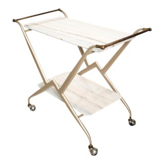 Mid-Century Mexican Modernist Serving Bakery Bar Table Trolley Arturo Pani Attr. For Sale