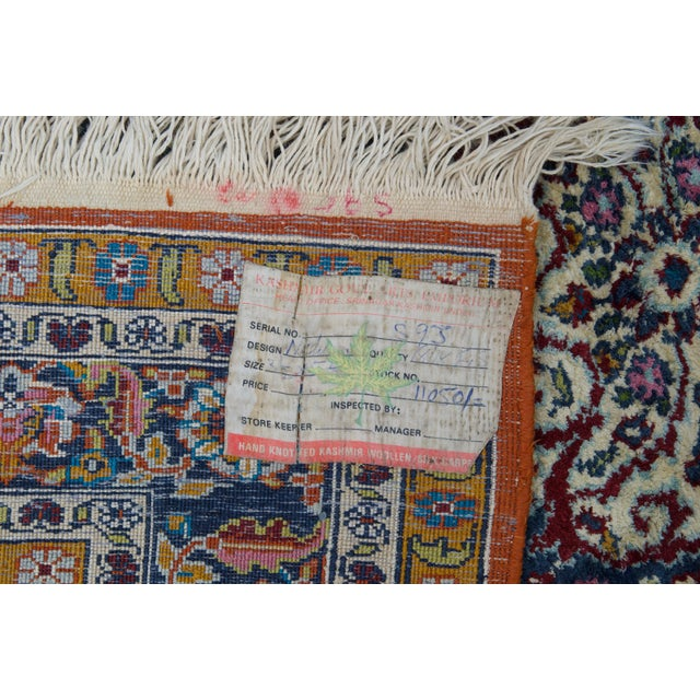 This exquisite vintage silk-wool blend prayer rug is a beauty to behold! Incredibly vivid in it's coloration, this fine,...