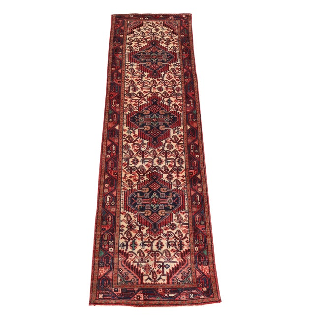 """20th Century Antique All Wool Runner - 9'10""""x2'8"""" For Sale"""