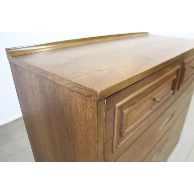 Mid-Century Modern Broyhill Premier Sculptra Tall Chest of Drawers For Sale - Image 10 of 13