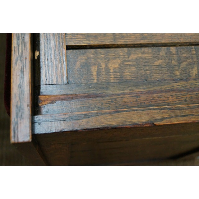 FBM & Co. Mission Oak & Cedar Lined Chest Bench For Sale - Image 10 of 10