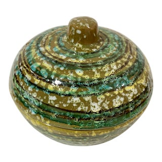 Bitossi Raymor Aldo Londi Round Lidded Box - Italy - Unusual Colors For Sale