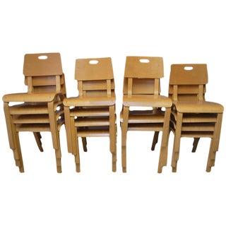 Thonet Mid-Century Children's Chairs - Set of 15