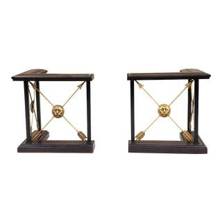 Maitland-Smith Regency Style Fireplace Fenders-A Set For Sale