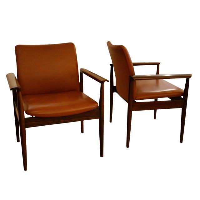 Finn Juhl Diplomat Chairs - A Pair For Sale