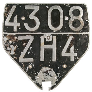 French Highway Number Sign