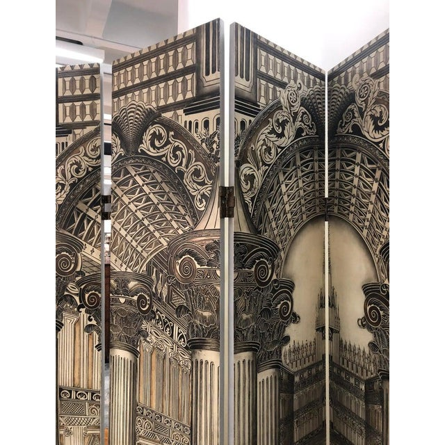Modern Architectural 6 Panel Screen For Sale - Image 4 of 6