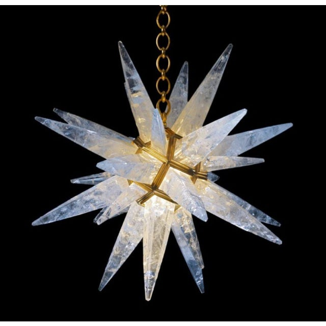 Mid-Century Modern Rock Crystal Star Light For Sale - Image 3 of 10
