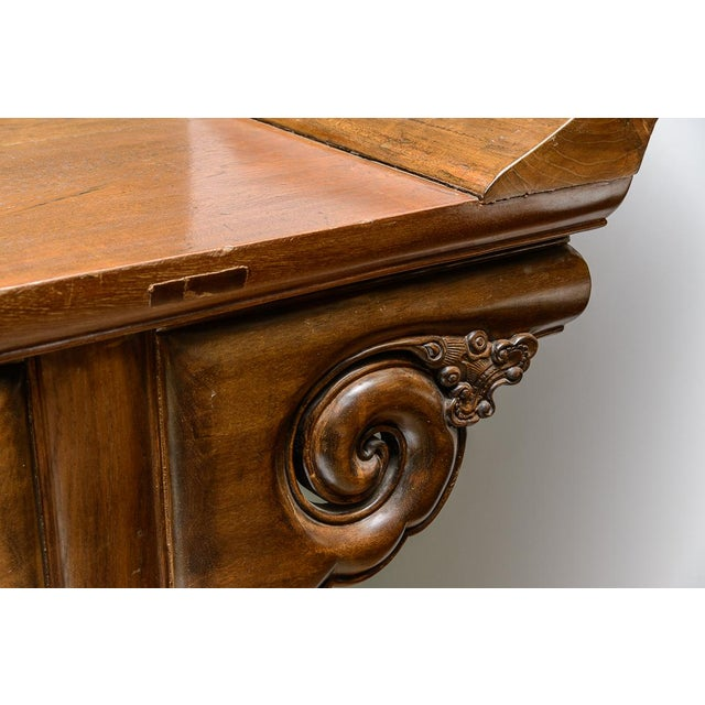 Brown Oversize altar table For Sale - Image 8 of 10