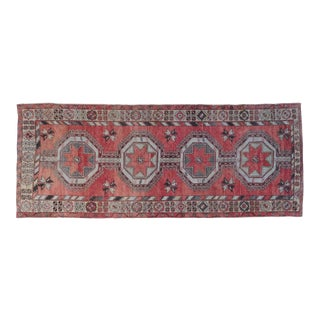 "Vintage Oushak Wool Rug - 5'2"" x 13'"