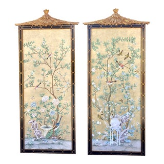 Late 20th Century Dessin Fournir Chinoiserie Panels - A Pair For Sale