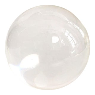 Vintage Crystal Ball Paperweight For Sale