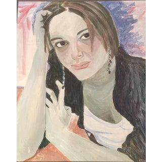 1970s Vintage Portrait of Woman For Sale