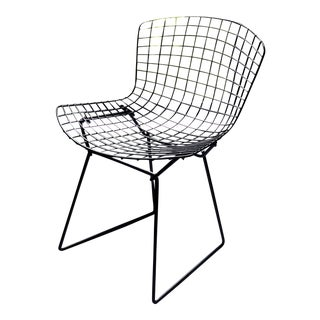 1960's Vintage Black Bertoia Side Chair For Sale
