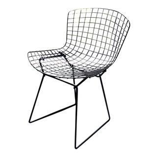 1960's Vintage Black Bertoia Side Chair For Sale