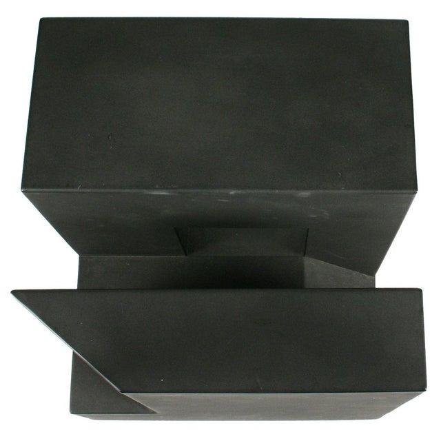 """Black Cube"" Aluminum Sculpture by Alfredo Halegua - Image 8 of 10"
