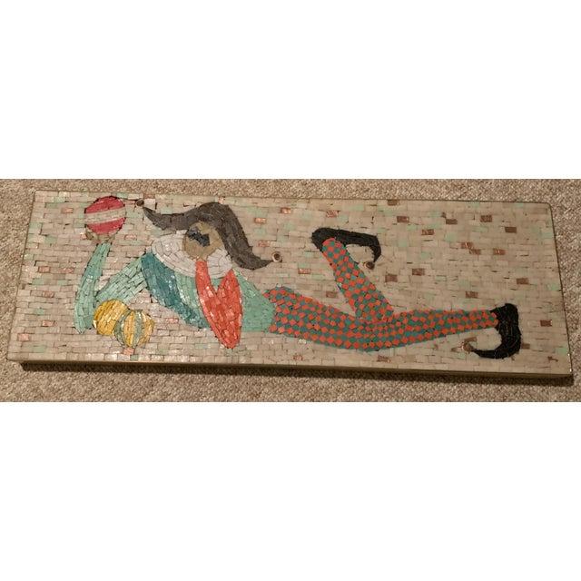 Masonite Vintage Harlequin Jester Tile Mosaic Wall Hanging For Sale - Image 7 of 12