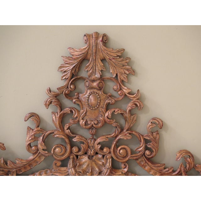 Baroque Theodore Alexander French Style Paint Decorated Mirror For Sale - Image 3 of 11