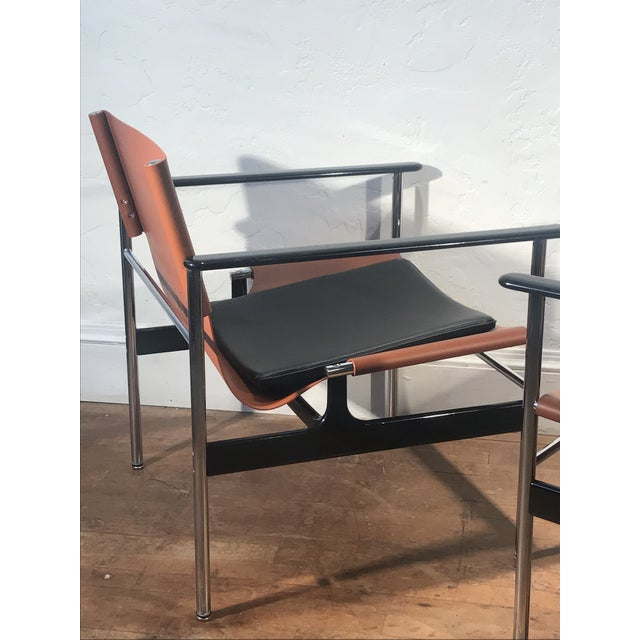 Charles Pollock for Knoll 657 Sling Lounge Chairs- a Pair For Sale In San Francisco - Image 6 of 12