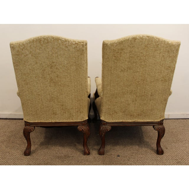 French Ladies Open Arm Ball & Claw Arm Chairs - A Pair - Image 8 of 11