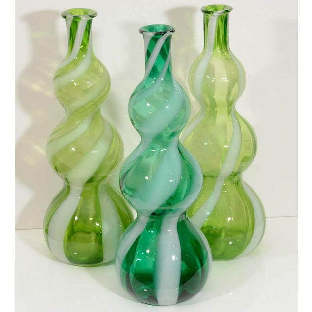Glass Italian Glass Vases - A Pair For Sale - Image 7 of 8